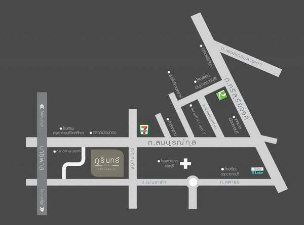 แผนที่โครงการ บ้าน ภูรินทร์ ราชบุรี