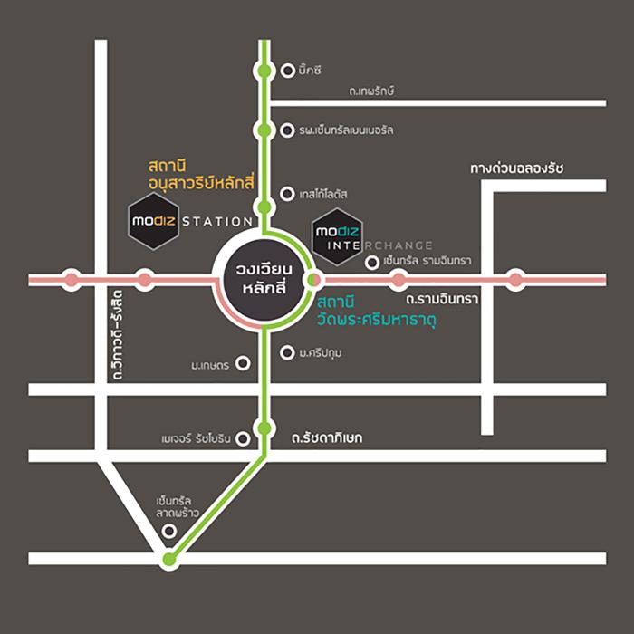 แผนที่ โครงการ โมดิซ อินเตอร์เชนจ์
