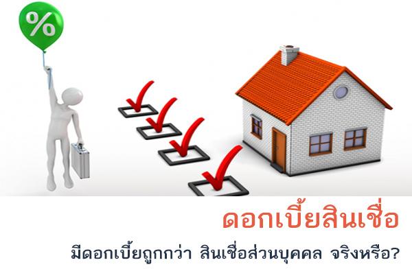 หลักประกันการกู้เงิน โดยใช้บ้านเป็นหลักประกัน