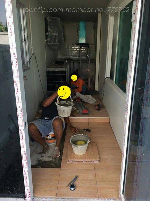 ต่อเติมครัวหลังบ้าน แบบลงเสาเข็ม