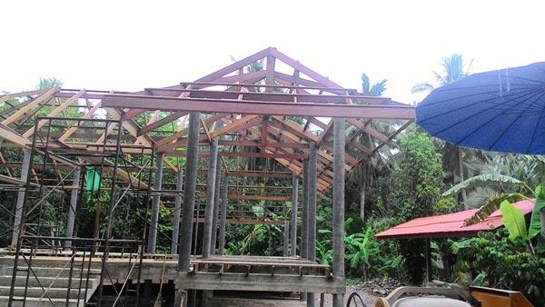 ปลูกบ้านชั้นเดียว ในสวนกลางธรรมชาติ