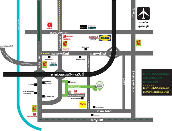 map พฤกษาวิลล์ 83 ทรัพย์บุญชัย-ศรีนครินทร์