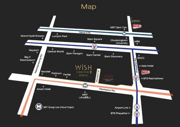 แผนที่ วิช ซิกเนเจอร์ 2 มิดทาวน์สยาม