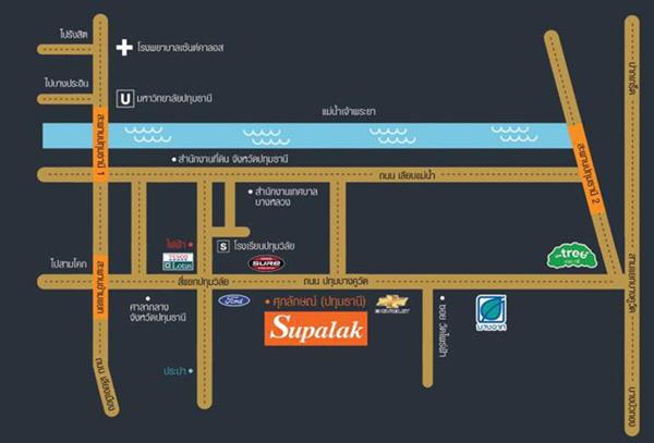 แผนที่ ศุภลักษณ์ - ปทุมธานี