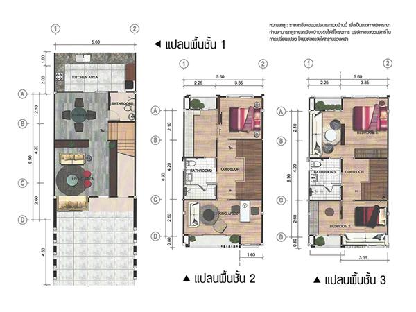 แบบบ้าน ศุภลักษณ์ - ปทุมธานี