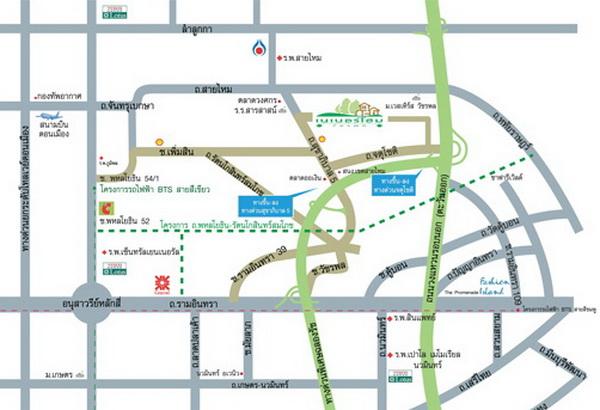 แผนที่โครงการ เนเบอร์โฮม วัชรพล ถนนสุขาภิบาล 5