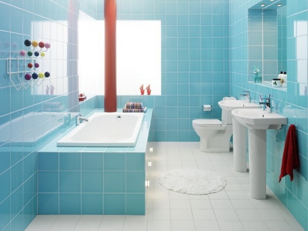 ห้องน้ำและภาชนะใส่น้ำ