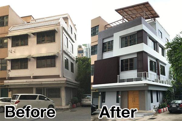 ปรับปรุงตึกแถวเก่า 30ปี ให้เป็นตึกใหม่ 3ชั้น แบบไม่เหมือนใครพร้อมดาดฟ้า!!