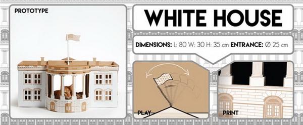 บ้านแมวลังกระดาษ ทำเนียบขาว